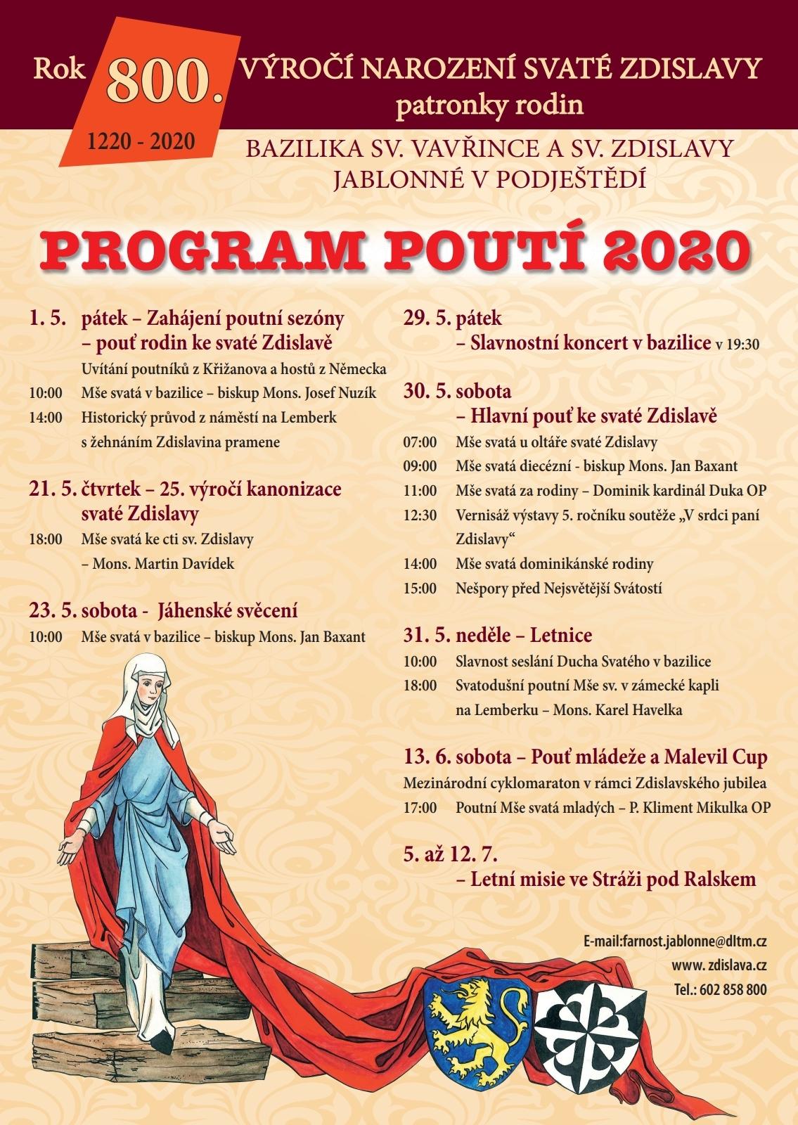 program poutí 2020